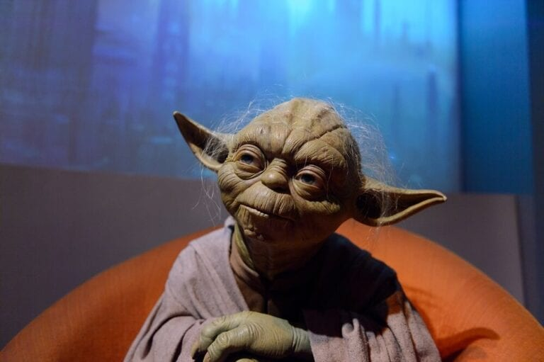 master yoda sitting down