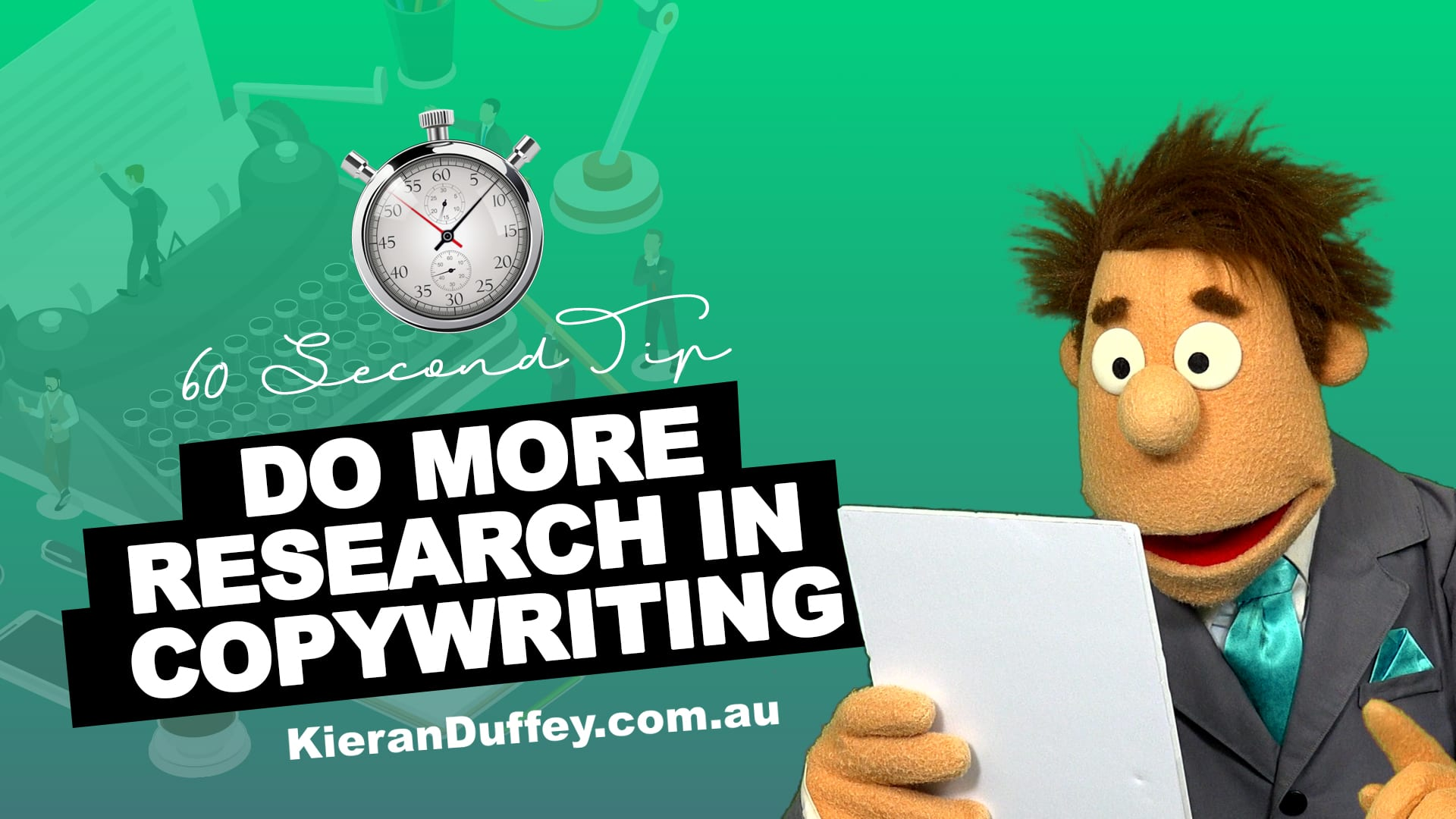 Video explaining research importance in copywriting