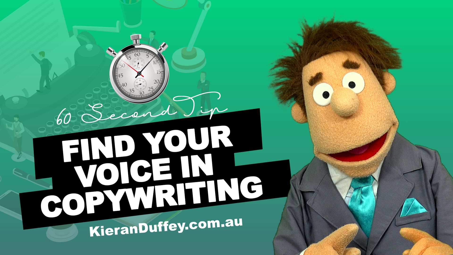 Video explaining finding your voice in copywriting