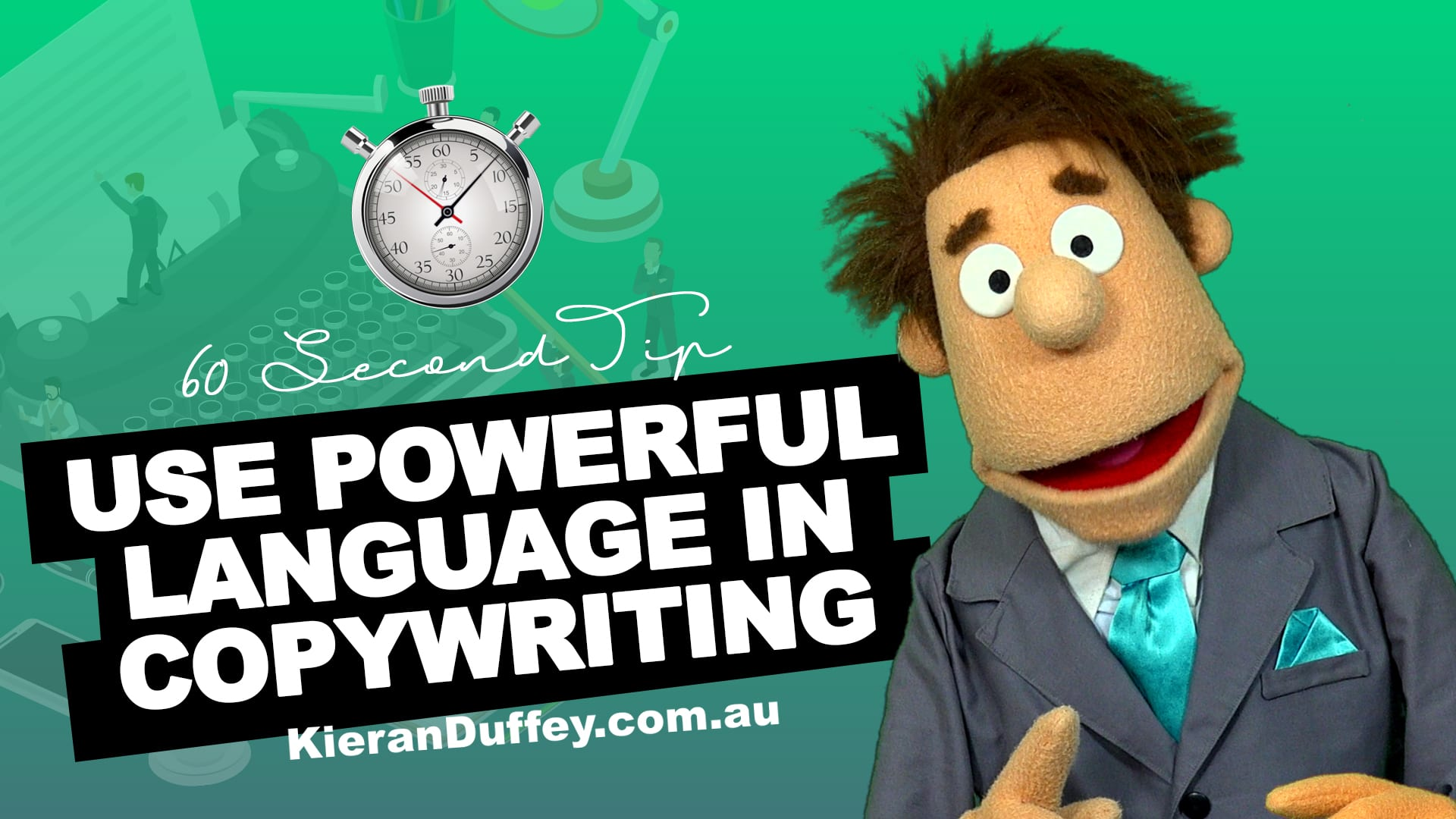 Video explaining using powerful language in copywriting