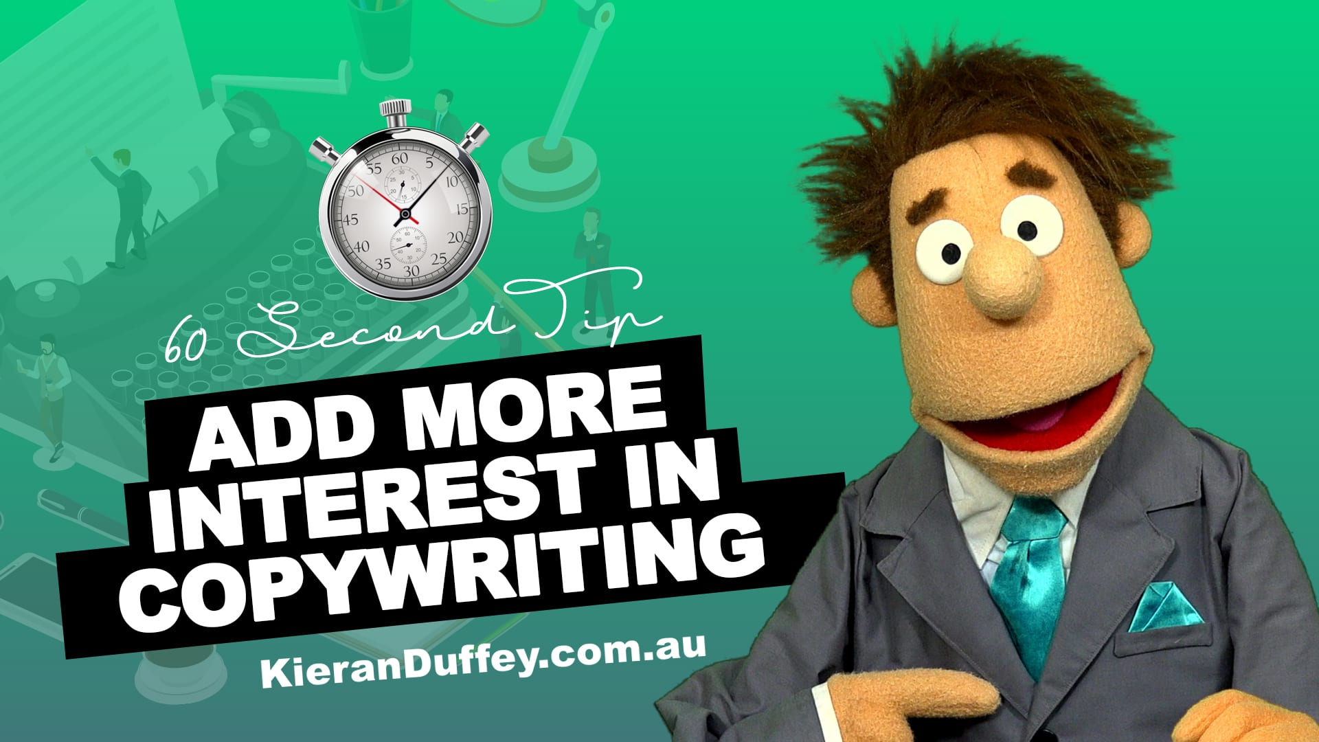 Video describing how to add more interest in copywriting