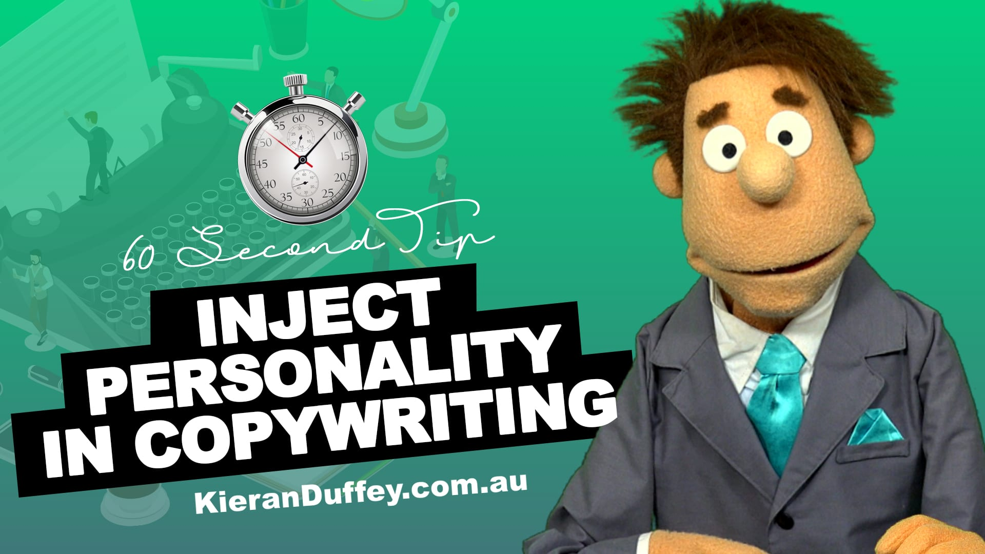 Video explaining importance of injecting personality in copywriting