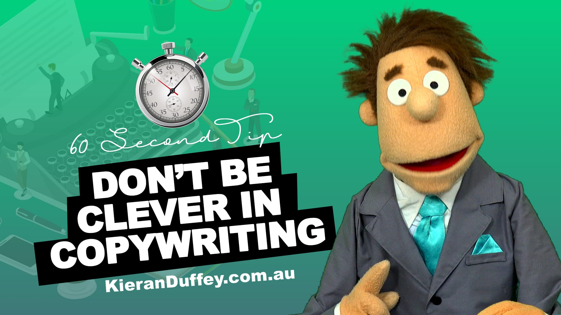 Video explaining why to avoid being clever in copywriting