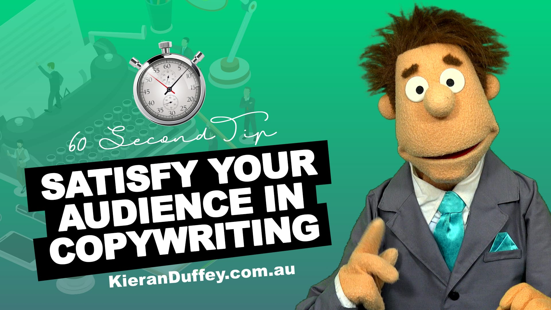 Video explaining importance of satisfying your audience in copywriting