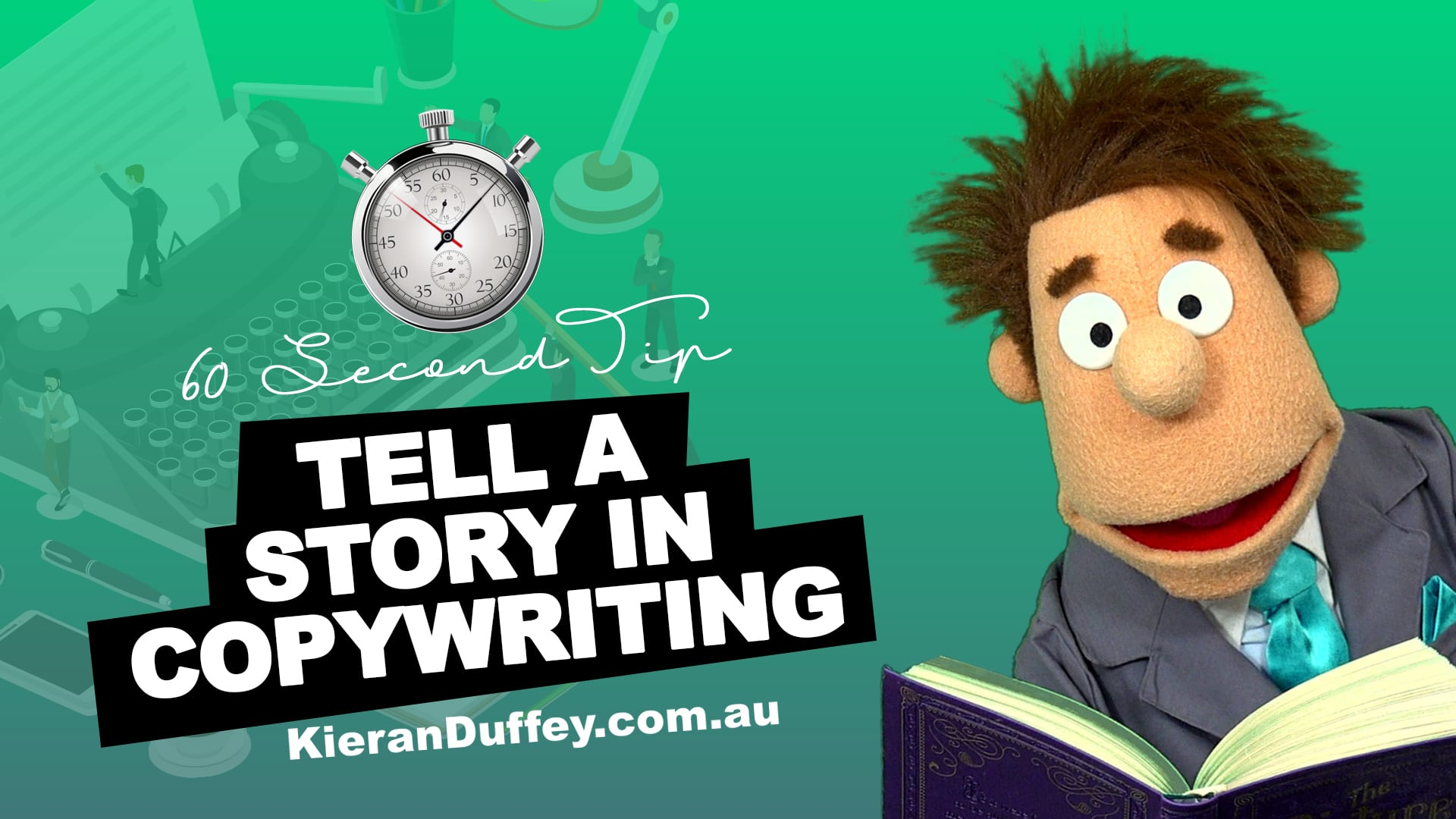 Video explaining importance of telling a story in copywriting
