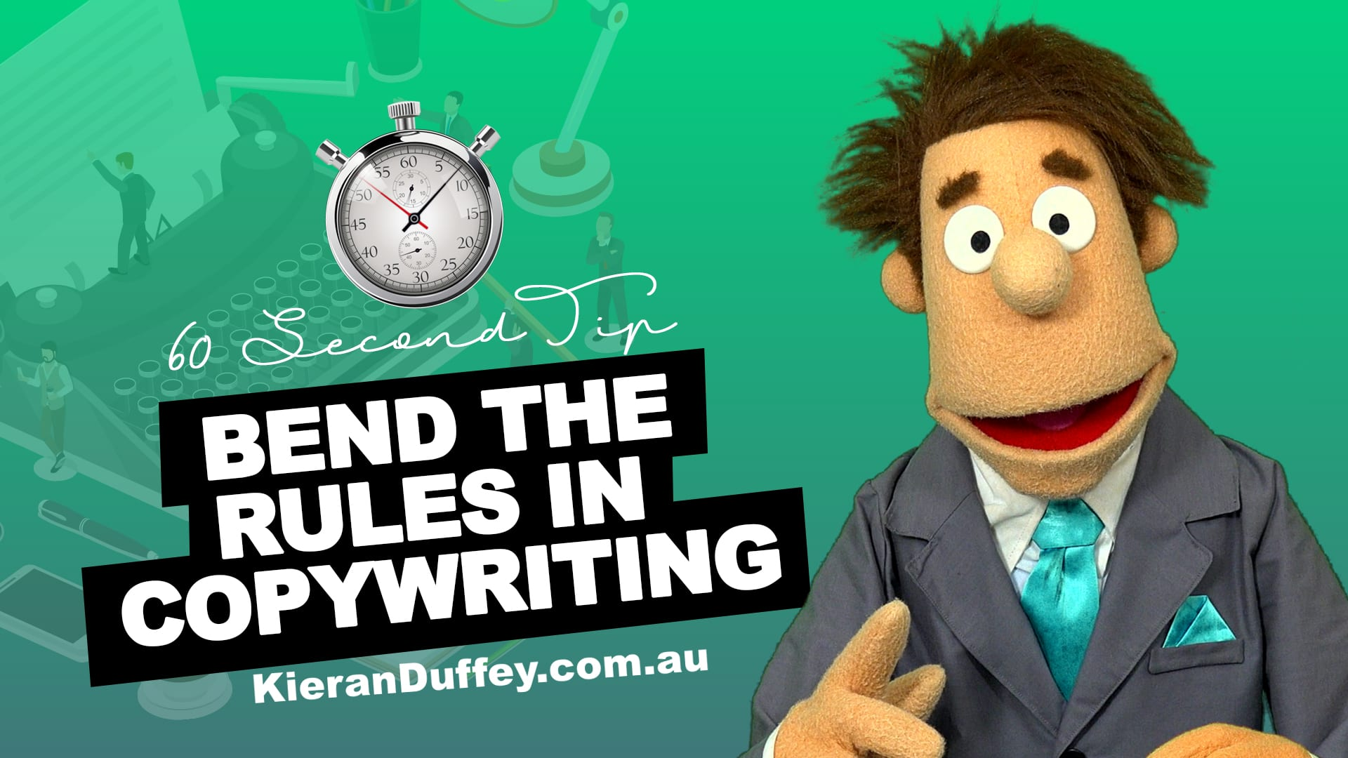 Video explaining why it's ok to bend the rules in copywriting to achieve results