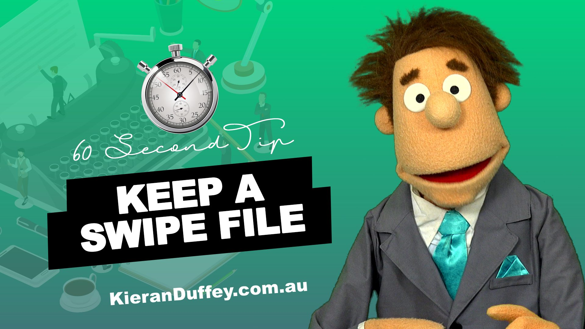 Video explaining why it's a must to have a swipe file in copywriting