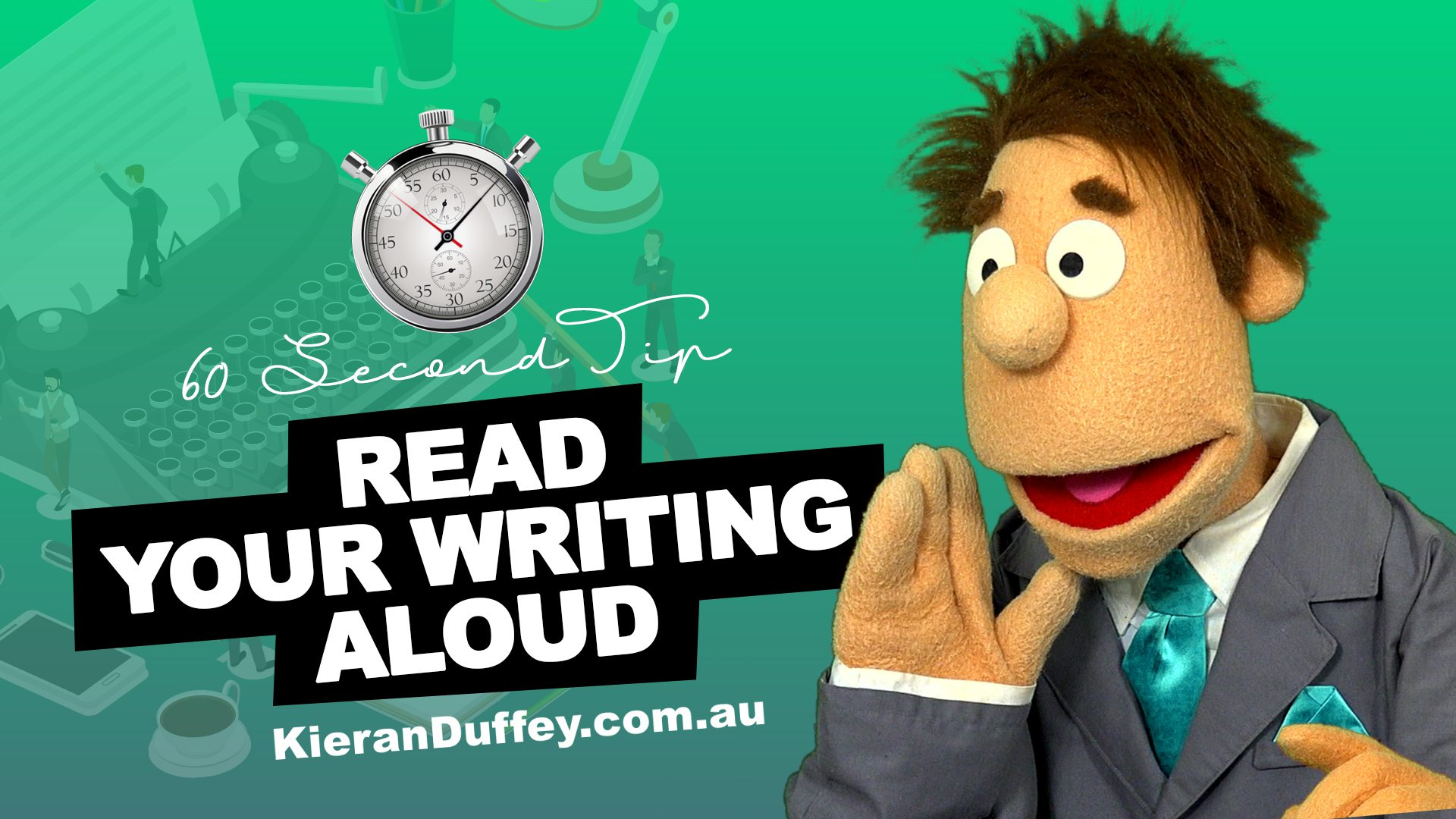 Video discussing importance of reading your writing aloud to capture errors