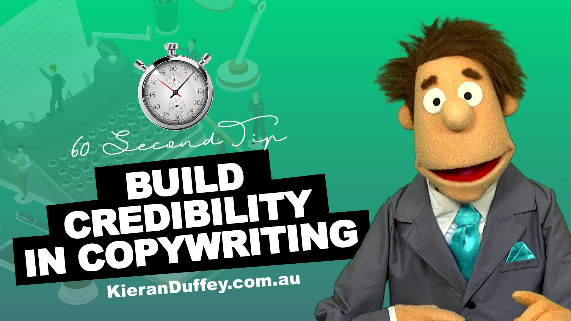 Video explaining importance of building credibility in copywriting