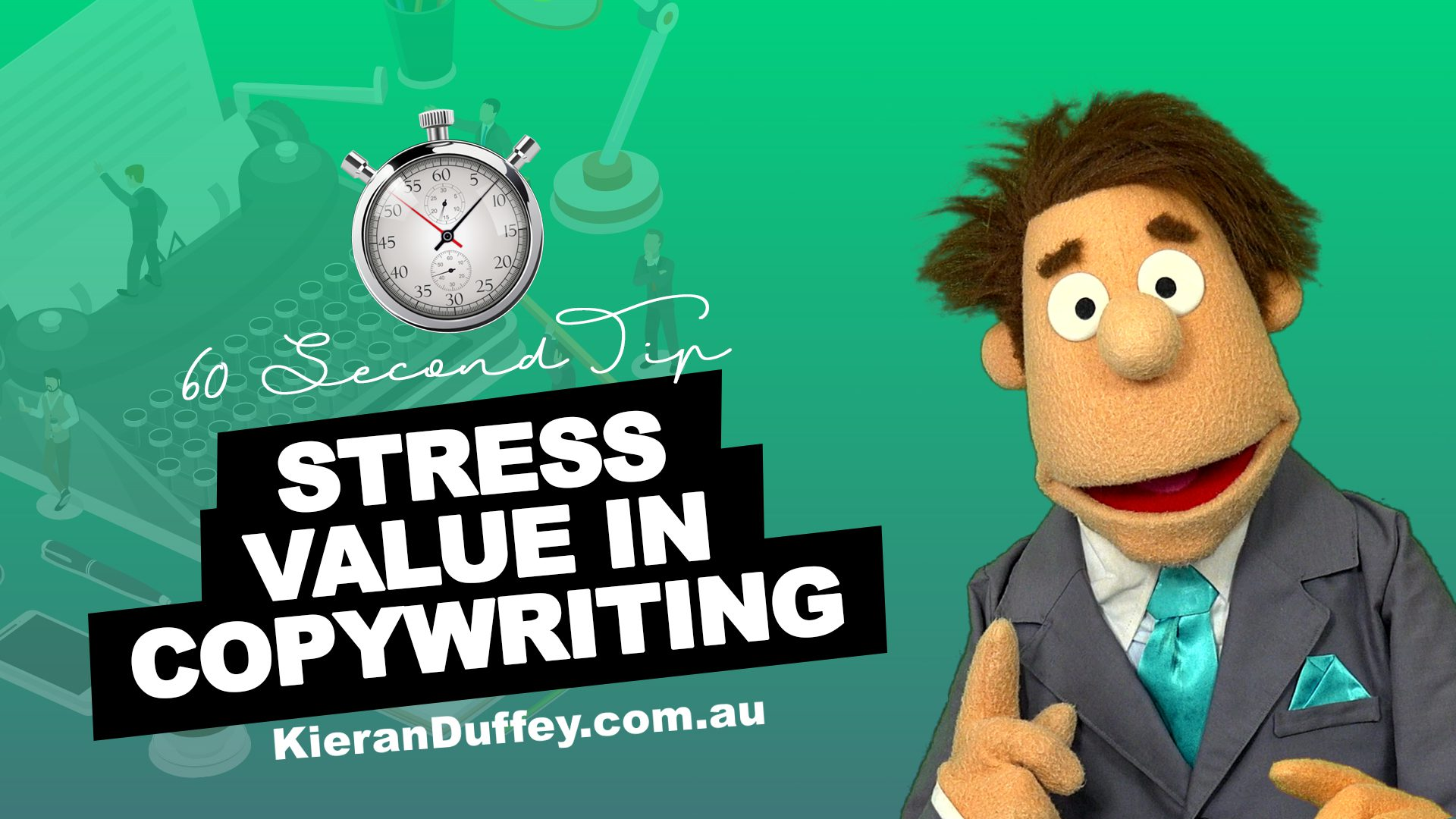 Video stressing importance of value in copywriting