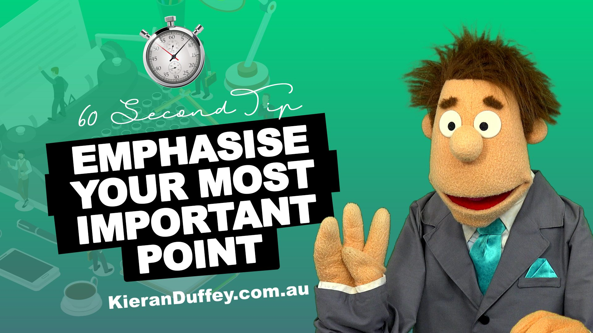 Video explaining why you need to emphasise your most important point in copywriting