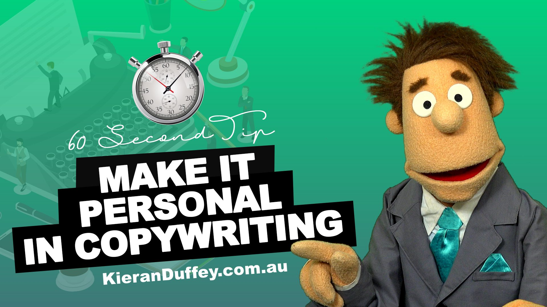 Video explaining the need to make it personal in copywriting
