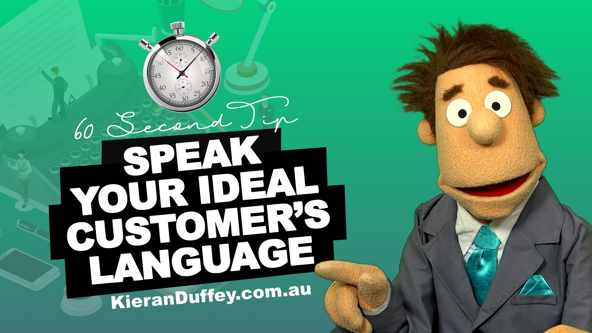 Video discussing why you need to speak your ideal customer's language in copywriting