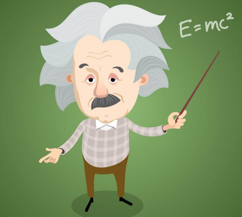 cartoon of Albert Einstein