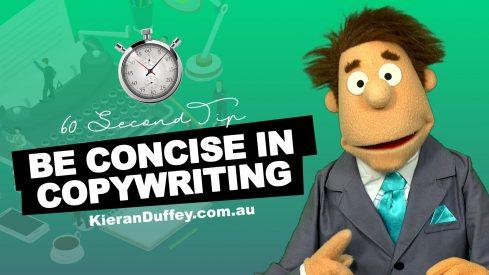 Video explaining concise copywriting