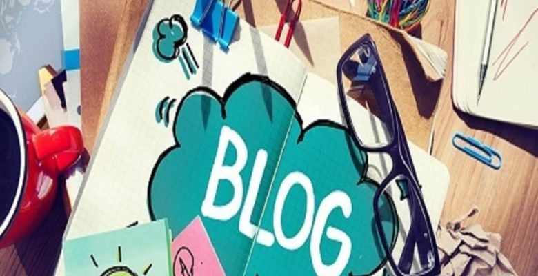 Creative blogging activities on desk