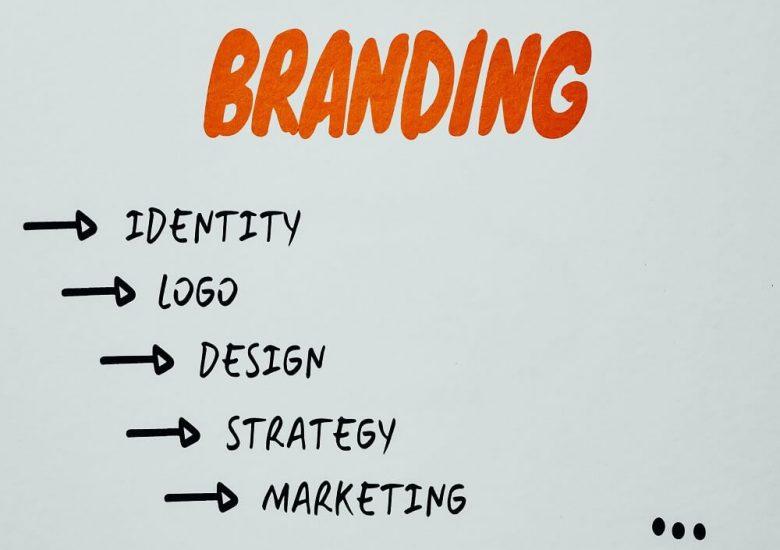Text explaining branding breakdown on white paper