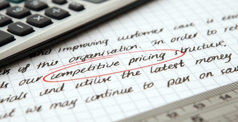 competitive pricing circled in red on paper
