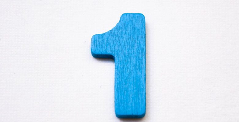 number 1 in blue