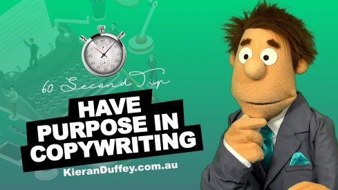 Video explaining the importance of having a purpose in copywriting