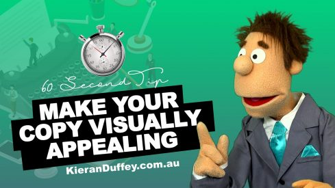 Video explaining importance of making your copy visually appealing