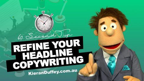 Video explaining importance of refining headline in copywriting
