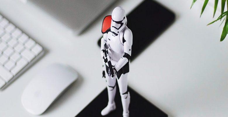 Star Wars Stormtrooper figurine on table