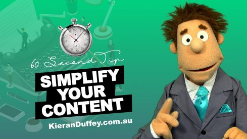 Video explaining importance of simplifying content