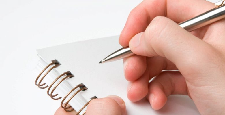 person about to write notes