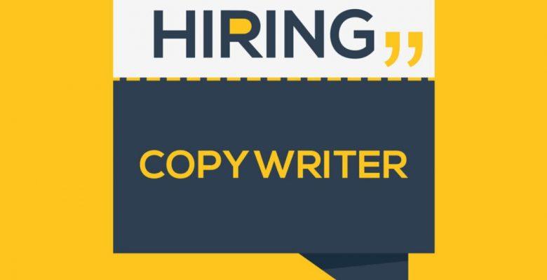 Copywriting hiring banner sign