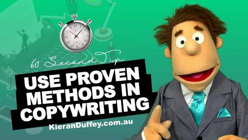 Video explaining using proven methods in copywriting